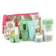 CLINIQUE by Clinique by Clinique. $100.27. WOMEN - Travel Set: Liquid Soap + Concentrate + YS SPF 15 + YS Night + Eye Cream + Lipstick + Bag --6pcs+1bag -