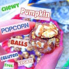 Chewy Pumpkin Popcorn Balls (#Gluten Free, #Vegan) + #Giveaway for Gaslamp Popcorn! #healthy #fall
