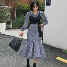 Korean Girl Fashion, Korean Fashion Trends, Ulzzang Fashion, Kpop Fashion, Muslim Fashion, Korean Street Fashion, Asian Fashion, Modest Fashion, Hijab Fashion