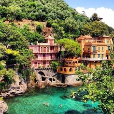 9 Real Life Fairytale Villages in Europe - The small fishing village of Portofino is an amazing display of untouched Italian culture. Hidden in the countryside, this water-front town captivates everyone who visits.
