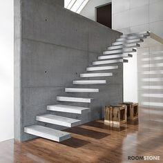 Utah's first choice for precast concrete stair treads. Cantilever Stairs, Concrete Staircase, Precast Concrete, Wood Stairs, House Stairs, Polished Concrete, Luxury Staircase, Staircase Design, Stepping Stones