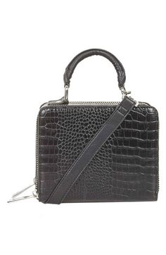 Topshop+Croc+Effect+Box+Bag+available+at+#Nordstrom