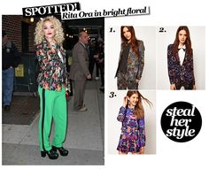 Spotted… Rita Ora in bright floral « THE EDIT