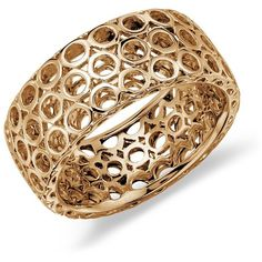 Blue Nile Open Circle Ring in 14k Yellow Gold ($270) ❤ liked on Polyvore