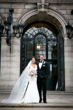 Photography: Corinna Raznikov Photography - www.corinnaraznikov.com/   Read More on SMP: http://www.stylemepretty.com/2015/04/30/modern-boston-public-library-wedding/
