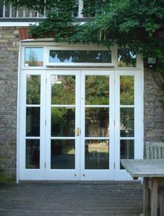 Interior french doors add a beautiful style and elegance to any room in your home. External French Doors, External Doors, French Windows, French Doors Patio, Garden Doors, Patio Doors, Glass Porch, Double Doors Exterior, Long House