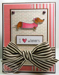 There She Goes Clear Stamps - The Doxie With the Moxie and Size Matters