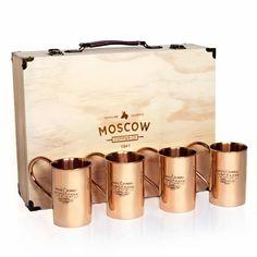 The Original Moscow Copper Co. 100% Pure Copper Mule Mugs (4-Pack)