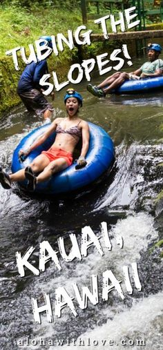 Kauai Tubing Is One Of The Best Hawaiian Adventures Don& miss the awesome activity in Kauai, Hawaii! Learn the history of these manmade canals while exploring Kauai& lush forest & [& Kauai Vacation, Honeymoon Vacations, Hawaii Honeymoon, Hawaii Travel, Beach Trip, Vacation Destinations, Thailand Travel, Travel Usa, Romantic Vacations