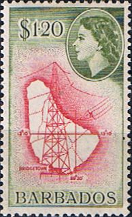 Barbados 1953 QE II SG 300 Scott 246 Other West Indies and British Commonwealth Stamps HERE!