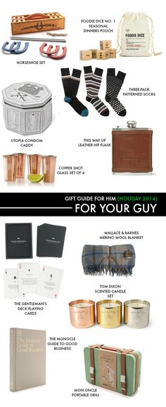 Gift guide for him: Plenty of christmas gift ideas to find the perfect present for the guy in your life.
