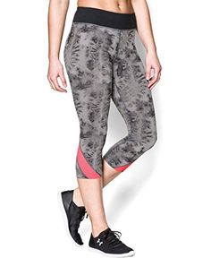 Under Armour Womens UA TakeAChance 20 Printed Capri Medium Black ** Continue to the product at the image link. (Note:Amazon affiliate link) #PantsCapris