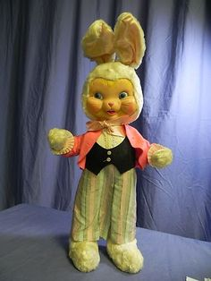Vintage GUND easter rubber face stuffed Bunny