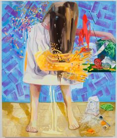 "Dana Schutz, ""Shaking, Cooking, Peeing"" 2009"