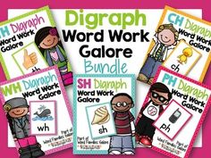 Digraphs -- Oodles of Digraphs! Once students begin to master vowel sounds, they should start to learn the most common digraphs as well. Digraphs are two letters that make up one sound. In this 545 paged bundle, you will get step by step whole and small group instruction plus games, activities and printables for