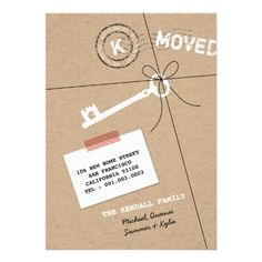Paper Package & Key Moving Announcement + House Warming Party Invitation by fatfatin