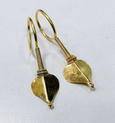 India | Antique sterling silver, gold gilded earrings