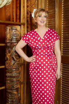 Looking so classy in our Red White Polka Jezebel Dress! http://www.vivienofholloway.com/#VivienofHolloway #VivienHolloway #VoH #Vintagereproduction #madeinlondon #1950sstyle #1950sfashion #1950s #1950sglamour #pinupgirl #pinup #rockabilly #rockabillygirl #rockabillyclothing #pinupfashion