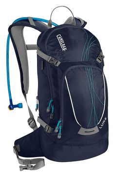 CamelBak® L.U.X.E.™ Hydration Backpack for Ladies - Peacoat/Capri | Bass Pro Shops // The L.U.X.E. Hydration Backpack hauls more than three hours worth of gear and hydration for female adventurers. #mothersdaygifts #hikinggear #backpacking