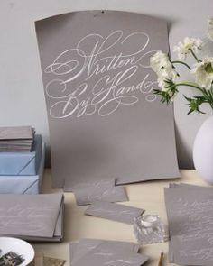 Calligraphed Wedding Ideas