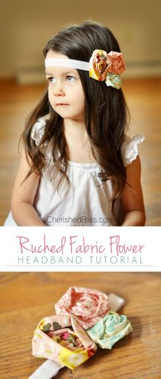 Ruched Fabric Flower Headband Tutorial from Cherished Bliss - The Cards We Drew