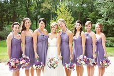 Vintage Purple Bridesmaid Dresses