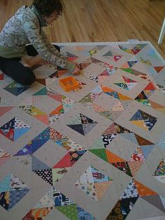 HST quilt from sew katie did - this would be awesome for all my scraps!