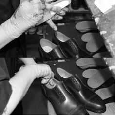 The insole is applied. #franceschetti handmade shoes Made in Italy