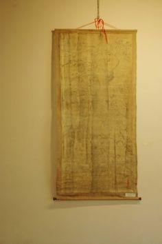 tempera su carta  giapponese su tela juta