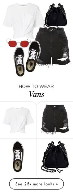 """""""Sans titre #681"""" by el-khawla on Polyvore featuring Vans, T By Alexander Wang, Topshop and Valentino"""
