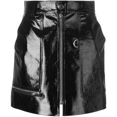 Isabel Marant 'Lynne' mini skirt ($1,515) ❤ liked on Polyvore featuring skirts, mini skirts, bottoms, black, front zip skirt, isabel marant, short miniskirt, short skirts and mini skirt