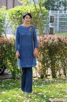 Голубое платье в филейной технике для сестры- мое хобби- мои работы.  Обсуждение на LiveInternet - Российский Сервис Онлайн-Дневников 64e647111e62f