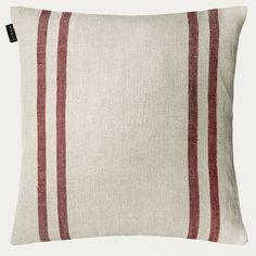"""50 x 60cm with pad LINUM /""""SIGNE/"""" Red /& White Wide Stripe Cushion"""