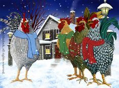 Christmas Quartet Christmas Card © 2013 Sarah Hudock, all rights reserved.