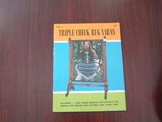 Vintage  crochet pattern booklet Triple check rug yarns volume 1 poncho rug  hat #GCmurphy