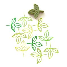 Spring Sprout Leaf Stamp Cling Rubber Stamp by creatiate on Etsy
