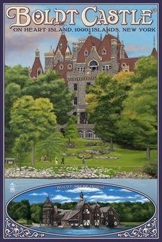 Boldt Castle - Thousand Islands, NY - Lantern Press Poster