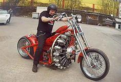Red Baron Bike Powered by an Airplane Engine