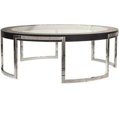 Столы 120 см * Partner стол, консоль и Side Доступные: Luxury Hotel Collection Мебель: Современный Круглый стеклянный журнальный столик Врезка * Темный тонированный дуб, полированная нержавеющая сталь Основа * Настройка доступна * 45 х Dia