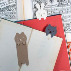 Mark your book with the cutest papercut animals. We designed these for kids but I also cut a set for myself. They just make me smile.