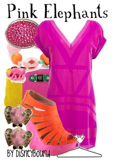 Pink Elephants by leslieakay on Polyvore featuring polyvore, fashion, style, Warehouse, ALDO, Marta Jonsson, Tarina Tarantino, Betsey Johnson, Disney, clothing and disney