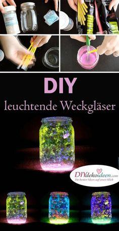 DIY Bastelideen mit Windlichter - magische Deko selber basteln
