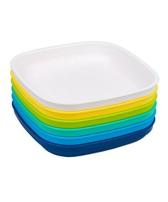 7u0027u0027 Bold Flat Plate ...  sc 1 st  Pinterest & IKEA kids plates bowls cups u0026 flatware. Love the bright colors ...