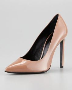Saint Laurent Paris Pointed Toe Patent Leather Pump Saint Laurent