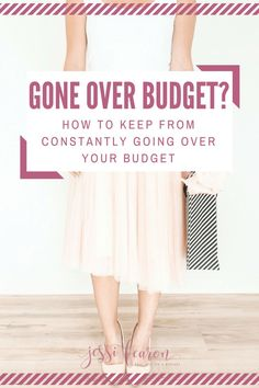 How to stick to your budget; Go over budget? Frustrated because you can't seem to stick to your budget. How to stop going over budget may be a little bit easier than you might expect. It just takes knowing how you work with money.  #budget #money #frugal