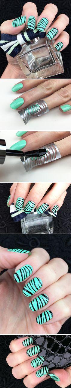 """Nail Stencils design """"Zebra"""" #nailart"""