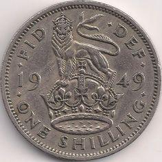 Wertseite: Münze-Europa-Westeuropa-Vereinigtes Königreich-<1971-Shilling-1-1949-1952-english