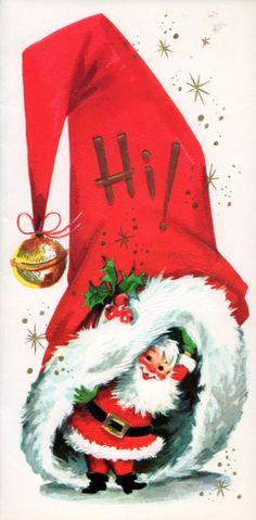1970s Santa Christmas card