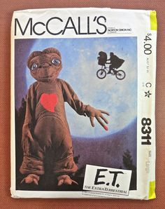 McCalls 8311 Vintage 1980s E T Childs Costume Pattern by Fragolina, $28.00