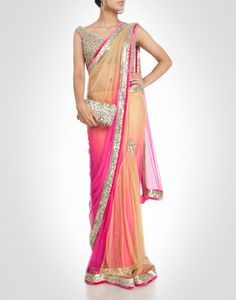 pink ombre saree - Google Search